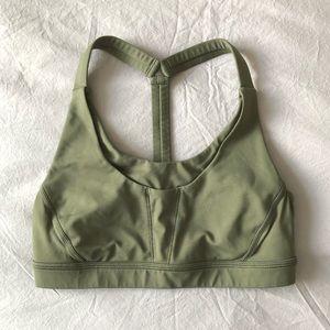 Green Lululemon bra with pockets